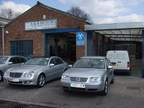 The front of A & B Motors